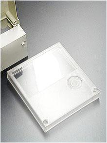 FREIE SICHT auf die Anzeigeelemente eines Stromzählers gibt diese transparente Fronttür aus Polycarbonat (PC)